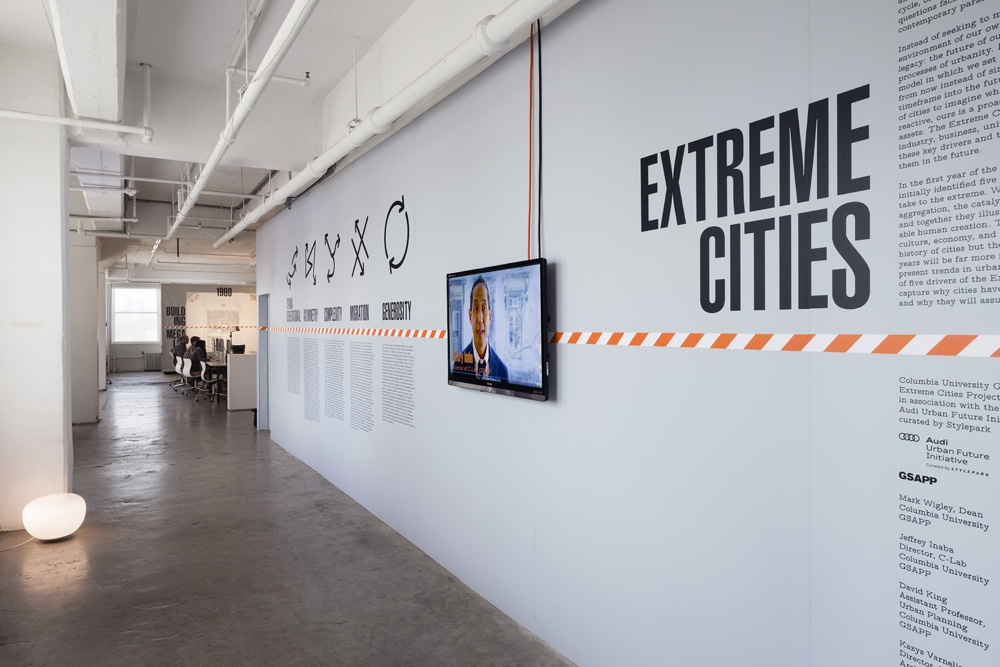 Jeffrey Inaba's C-Lab in Extreme Cities Exhibition